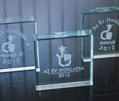 Év Honlapja 2012: idén három díjat nyertünk